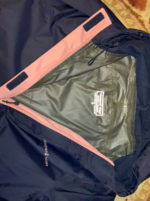Vineyard Vines navy with pink detail on pocket and zipper Jacket Image 4