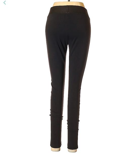 Matty M Tights Pants Faux Leather Look Black Leggings Image 1