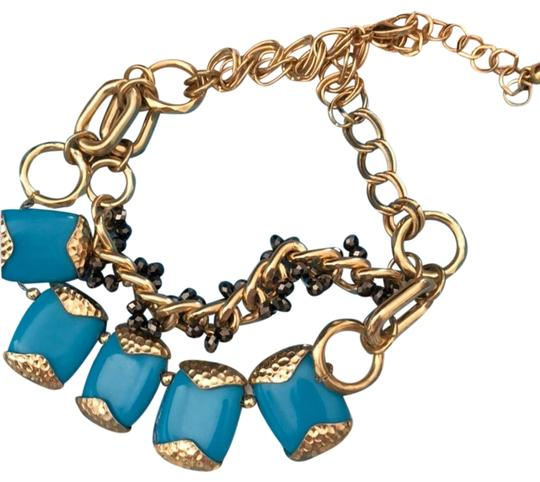 Preload https://img-static.tradesy.com/item/26455400/turquoise-blue-and-golden-tone-piece-found-in-arizona-necklace-0-1-540-540.jpg