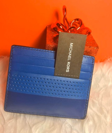 Michael Kors Sale Cheap Discount Wristlet in ATLANTIC BLUE Image 4
