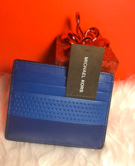 Michael Kors Sale Cheap Discount Wristlet in ATLANTIC BLUE Image 1