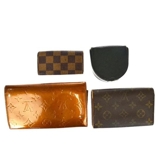 Louis Vuitton Authentic LOUIS VUITTON 4 Set Wallet Key Case Monogram Taiga Vernis Image 4