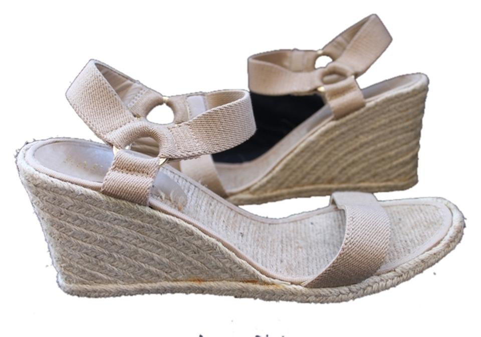 64cd20ed178 Lauren Ralph Lauren Beige Indigo Espadrille Wedge Sandals Size US 11 ...