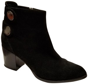 Alberto Fermani Suede Pointed Toe Black Boots