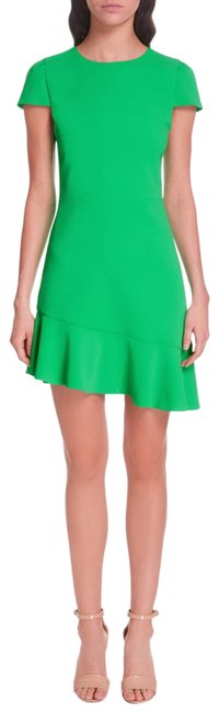 Item - Green Fable Mint Kelly Asymmetrical Ruffle Mid-length Night Out Dress Size 10 (M)