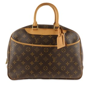 Louis Vuitton Makeup Cosmetic Case Train Case Luggage Diaper Brown Travel Bag