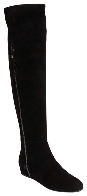 Item - Black Elf Wedge Over The Knee Boots/Booties Size US 8 Regular (M, B)