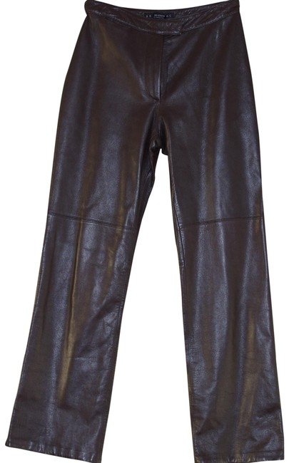 Item - Brown Italian Leather Women's Pants Size 4 (S, 27)
