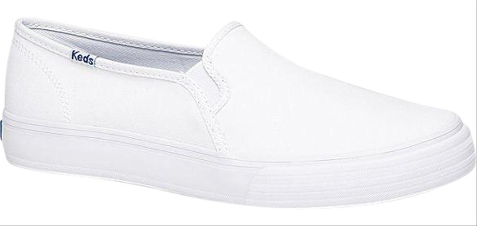 lowest price cheaper release info on Keds White Women's Double Decker Canvas Slide Sneakers Size US 8.5 Regular  (M, B) 17% off retail