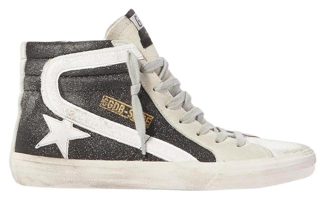 Item - Slide Glittered Distressed Suede High-top Sneakers Size EU 39 (Approx. US 9) Regular (M, B)