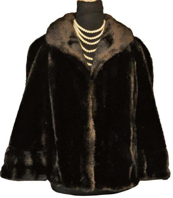 Item - Brown Faux Mink Stole Coat Size OS (one size)