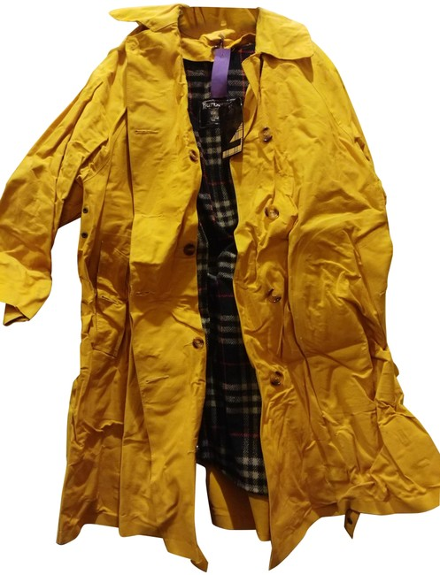 Item - Yellow Multiple Coated Cotton Lined Coat Size 8 (M)