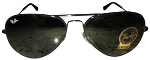 Ray-Ban RAY-BAN AVIATOR BLACK METAL FRAME GREEN SUNGLASSES 58MM RB3025 L2823