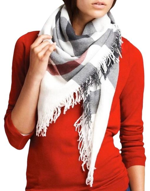 Item - Ivory Limited Color Check Square Scarf/Wrap