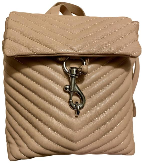 Item - Flap Quilted Doe (Pinkish Nude) Leather Backpack