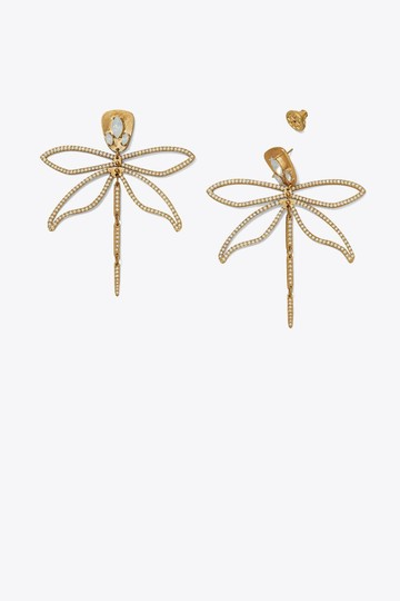 Tory Burch Tory Burch Embellished Articulated Dragonfly Image 1