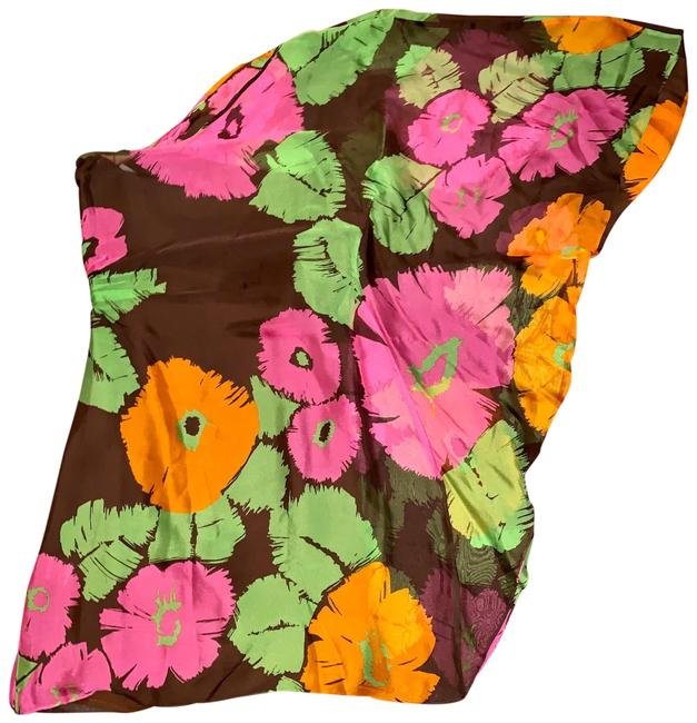 Item - Brown and Pink Floral One Shoulder Flowy Short Casual Dress Size 0 (XS)