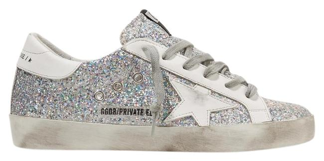 Item - Superstar Distressed Glittered Leather Sneakers Size EU 40 (Approx. US 10) Regular (M, B)