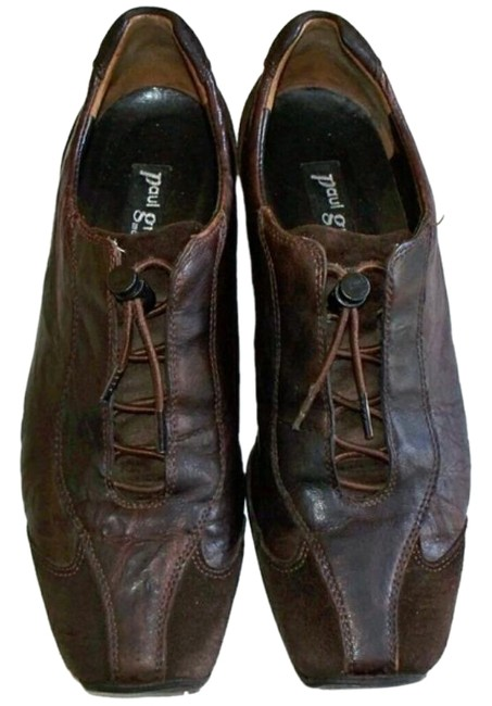 Item - Brown Leather Suede Combo Oxford Sneakers Size US 6.5 Regular (M, B)