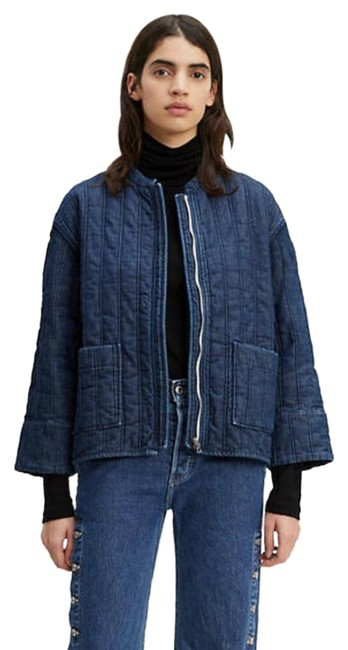 Item - Blue Made & Crafted Quilted Zip Jacket Size 4 (S)
