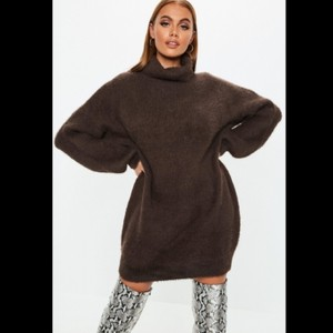 Missguided short dress brown on Tradesy