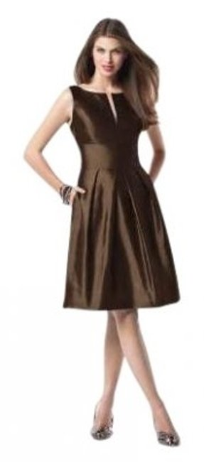 Preload https://item5.tradesy.com/images/dessy-brown-2818drift-wood2-knee-length-cocktail-dress-size-2-xs-26459-0-0.jpg?width=400&height=650
