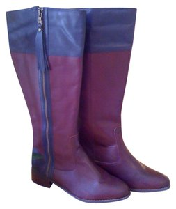 twiggy LONDON Riding Reddish Brown Boots
