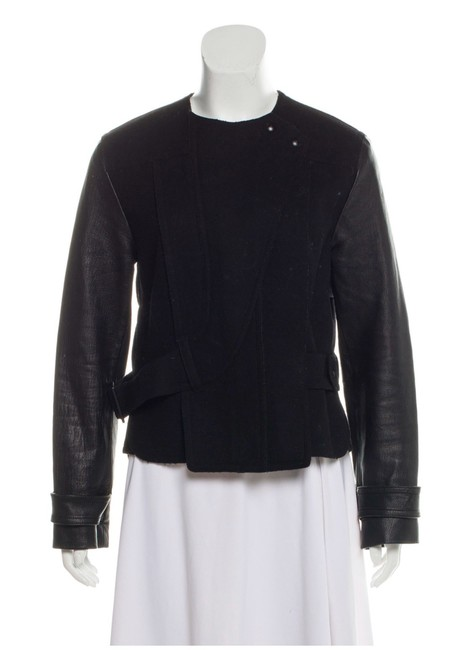 Item - Black Wool with Sleeves Jacket Size 2 (XS)