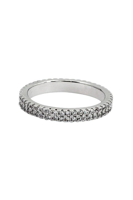 Ocean Fashion Silver Micro-inlaid Small Crystal Ring Ocean Fashion Silver Micro-inlaid Small Crystal Ring Image 1