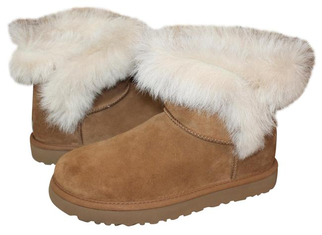 Item - Chestnut Milla Mini Toscana Fluff Suede Shearling Boots/Booties Size US 10 Regular (M, B)