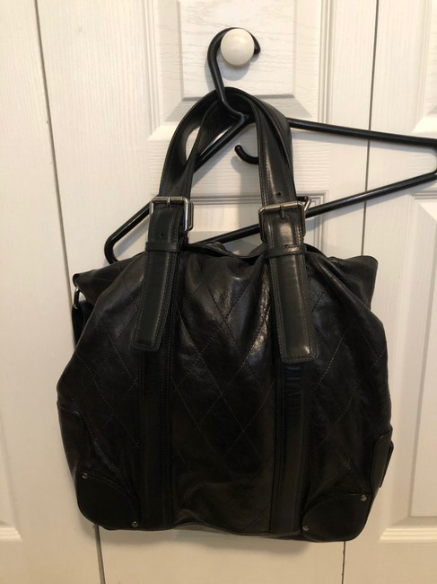 Chloé Quilted Convertible Black Leather Tote Chloé Quilted Convertible Black Leather Tote Image 2