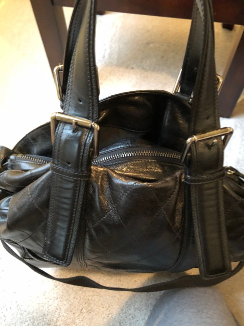 Chloé Quilted Convertible Black Leather Tote Chloé Quilted Convertible Black Leather Tote Image 4