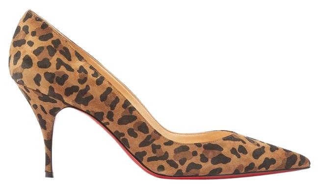 Christian Louboutin Clare 80 Leopard-print Suede Pumps Size EU 35 (Approx. US 5) Regular (M, B) Christian Louboutin Clare 80 Leopard-print Suede Pumps Size EU 35 (Approx. US 5) Regular (M, B) Image 1