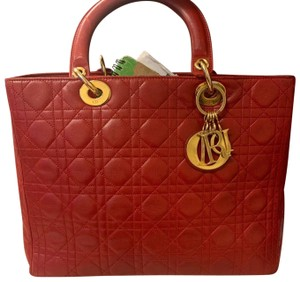 Dior Tote in red
