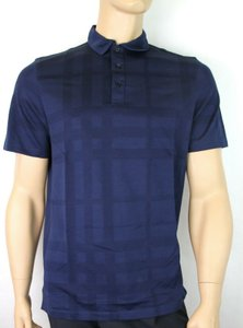 Burberry Navy Jersey Men's London Cotton Sleeve Polo 3908499 Shirt