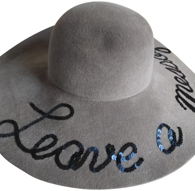Item - Taupe Black 0/S Leave A Message Floppy Hat