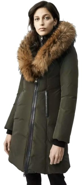 Item - Green Kay Lavish Trim Down Coat Size 16 (XL, Plus 0x)