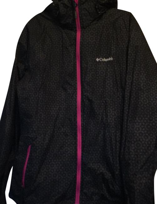 Columbia Sportswear Company Black and Magenta Interchange Coat Size 12 (L) Columbia Sportswear Company Black and Magenta Interchange Coat Size 12 (L) Image 1