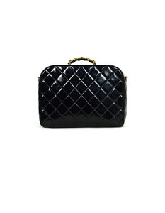 Chanel Patent Leather Around Black Travel Bag