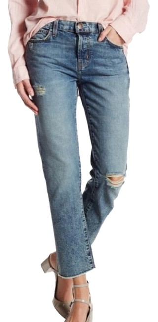 Item - Blue Distressed  - The Vintage Straight Leg Jeans Size 25 (2, XS)