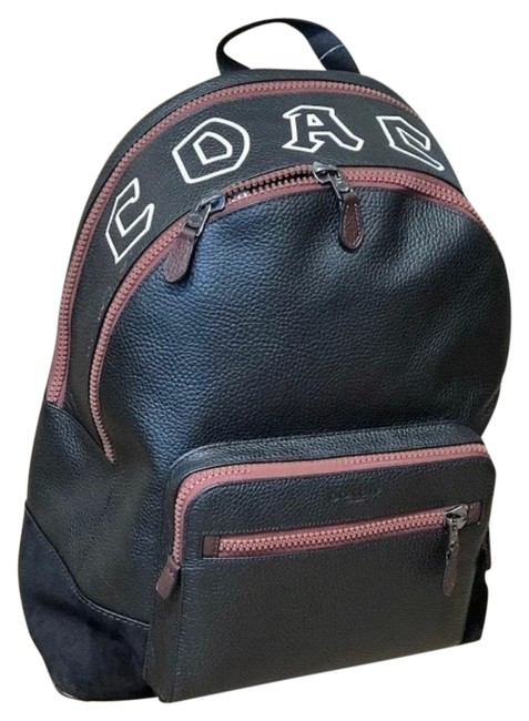 Item - New Men's (F69027) West Cut Out Pebbled Qb/Black Leather Backpack