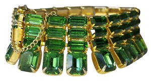 Unsigned Weiss Vintage Unsign Weiss Deco Emerald Cut and Baguette Glass Bracelet