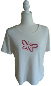 Weekenders Vintage T-shirt Classic T Shirt White with Red Logo