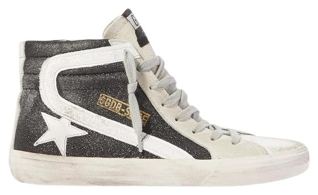 Item - Slide Glittered Distressed Suede High-top Sneakers Size EU 38 (Approx. US 8) Regular (M, B)