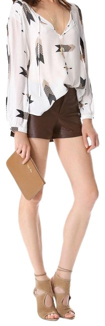 Item - Brown Leather Shorts Size 2 (XS, 26)