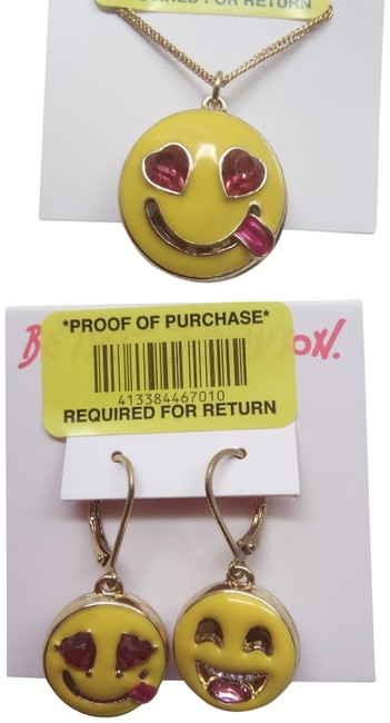 Item - Yellow New Happy Face Necklace & Er