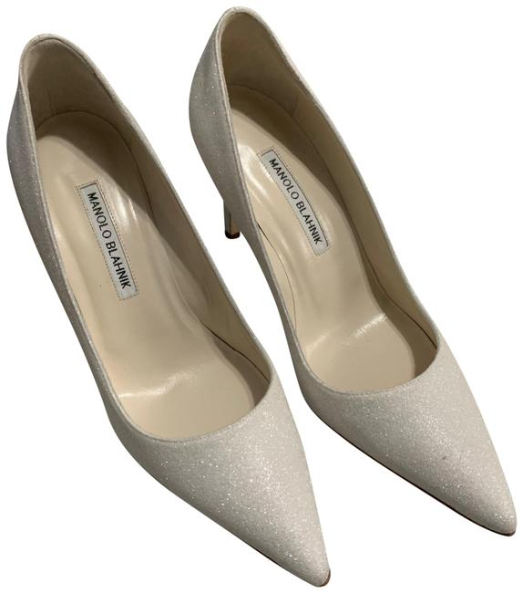 Item - White Glitter Bb Pointy Toe Pumps Size EU 38.5 (Approx. US 8.5) Regular (M, B)