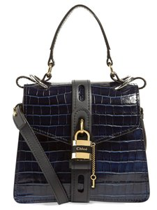Chloé Aby Small Aby Day Aby Day Aby Croc Satchel in Blue