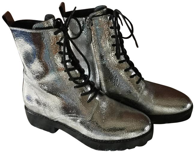 Item - Bronz / Silver Gita Metallic Leather Boots/Booties Size US 7 Regular (M, B)