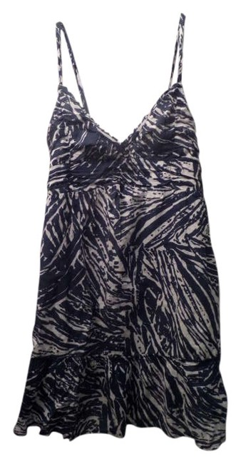 Hollister short dress Navy Blue and White on Tradesy